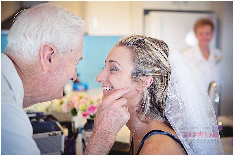 A special moment between Grand dad and his grand daughter before her wedding.