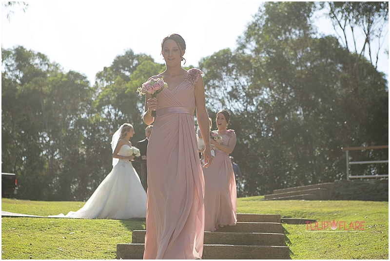 Arriving at Sirromet Winery Mount Cotton for their wedding