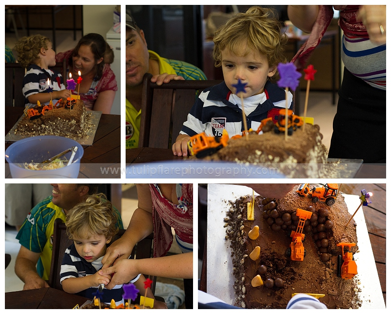Construction Party- Birthday cake time