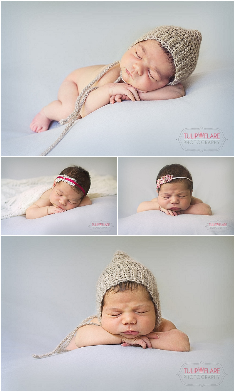Brisbane Baby Photography using a side pose and head up on hands pose